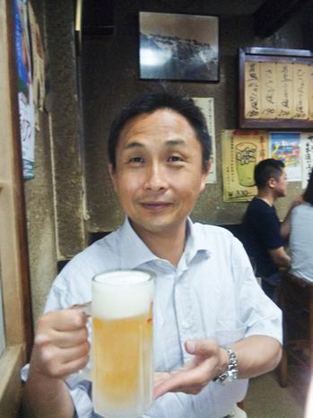 焼鳥屋さんでビール